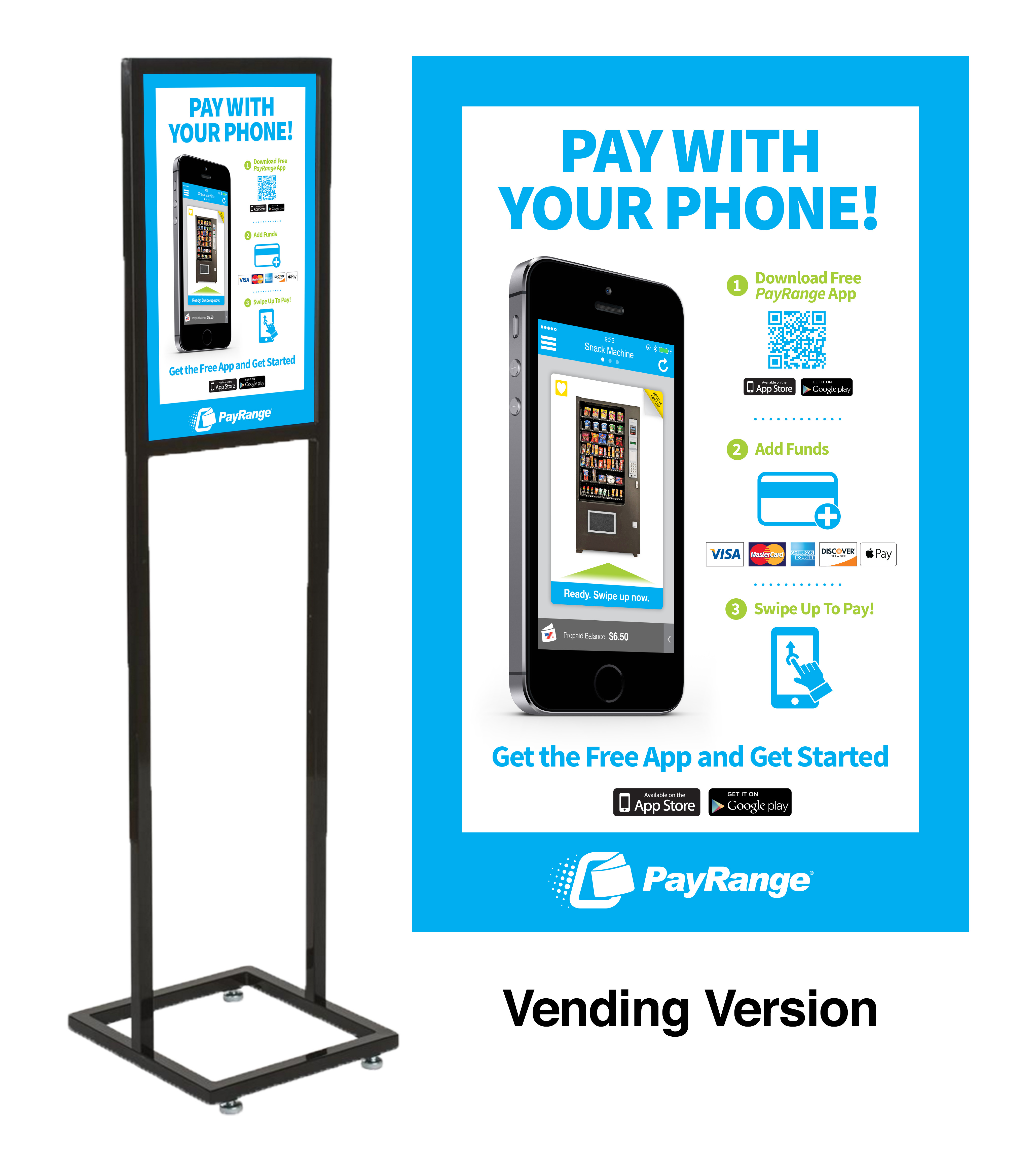 Free Standing Sign - Vending Version